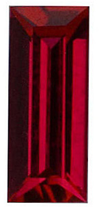 Quality Chatham Created Ruby Gem, Baguette Shape, Grade GEM, 5.00 x 2.00 mm in Size, 0.2 Carats
