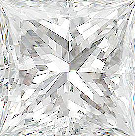 Quality Diamond Melee, Princess Shape, E Color - VS Clarity, 2.75 mm in Size, 0.11 Carats