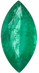 Quality Emerald Gemstone, Marquise Shape, Grade A, 4.25 x 2.25 mm in Size, 0.1 Carats