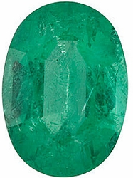 Quality Emerald Gemstone, Oval Shape, Grade A, 6.00 x 4.00 mm in Size, 0.48 Carats