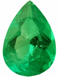 Quality Emerald Gemstone, Pear Shape, Grade AA, 8.00 x 6.00 mm in Size, 1.1 Carats