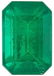 Quality Emerald Stone, Emerald Shape, Grade AA, 7.00 x 5.00 mm in Size, 1 Carats