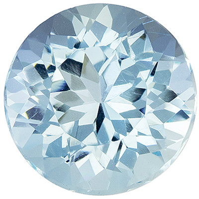 Quality Gem in 1.77 carat Blue Aquamarine Gemstone in Round Cut 8 mm
