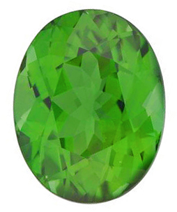 Quality Green Tourmaline Gemstone, Oval Shape, Grade AAA, 6.00 x 4.00 mm in Size, 0.48 Carats