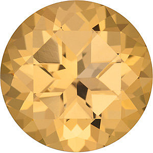 Quality Honey Passion Topaz Gem, Round Shape, Grade AAA, 2.25 mm in Size
