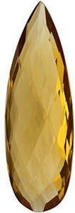 Quality Honey Quartz Gem, Pear Shape Double Sided Checkerboard, Grade AA, 24.00 x 8.00 mm in Size, 7.5 Carats