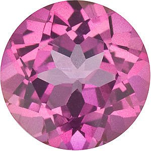 Quality Mystic Pink Topaz Stone, Round Shape, Grade AAA, 6.50 mm in Size, 1.35 Carats
