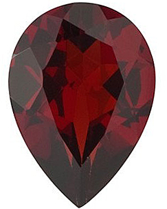 Quality Red Garnet Stone, Pear Shape, Grade AAA, 7.00 x 5.00 mm in Size, 0.88 carats