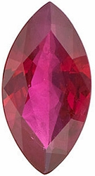 Loose Ruby Gemstone, Marquise Shape, Grade A, 5.00 x 2.50 mm in Size, 0.19 Carats