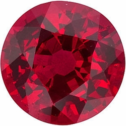 Quality Ruby Stone, Round Shape, Grade AA, 5.50 mm in Size, 0.85 Carats