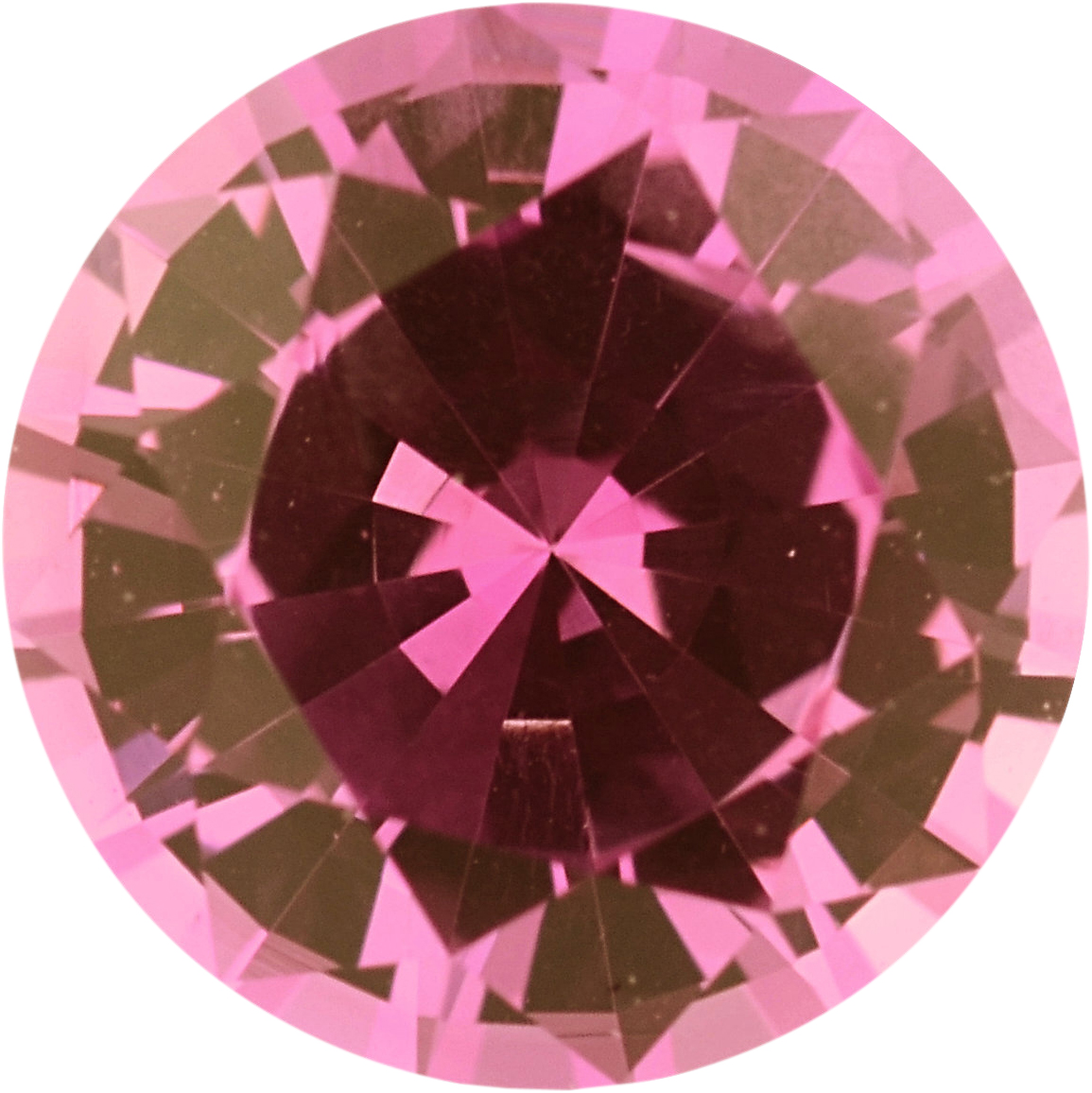 Quality Sapphire Loose Gem in Round Cut, Light Purplish Red, 5.55 mm, 0.77 Carats