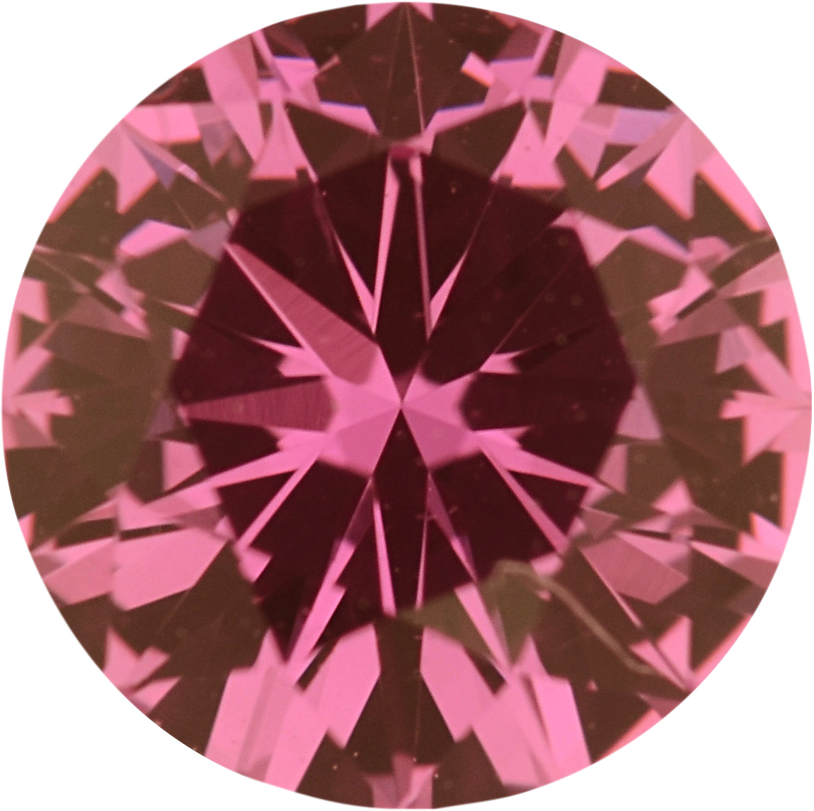 Quality Sapphire Loose Gem in Round Cut, Medium Red Purple, 5.86 mm, 0.84 Carats