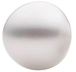 Buy South Sea Cultured Pearl, Near Round Shape Undrilled, Grade FINE, 14.00 mm in Size, 21.25 carats
