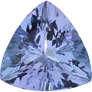 Quality Tanzanite Gem, Trillion Shape, Grade A, 6.50 mm in Size, 0.88 Carats