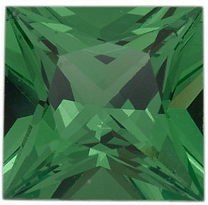 Quality Tsavorite Garnet Gem, Princess Shape, Grade AAA, 2.75 mm in Size, 0.13 carats
