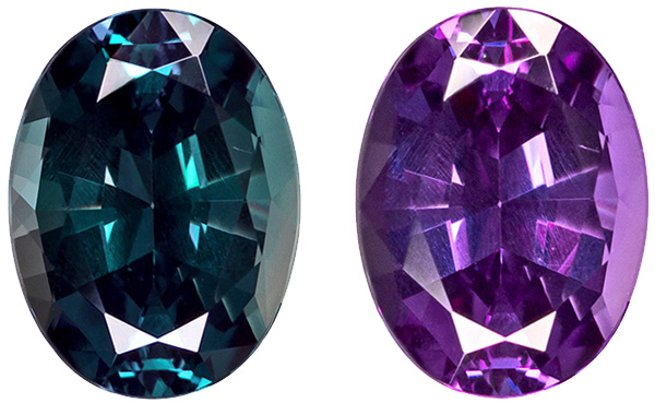 Rare Brazilian Fine Alexandrite Loose Oval Cut Gemstone in Vivid Teal to Rich Eggplant, 7.7 x 5.8 mm, 1.30 carats - Gubelin Certified - SOLD