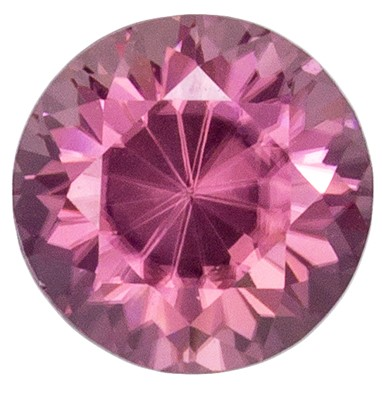 Rare Rosey Pinkish Brown Zircon 1.32 carats, Round shape gemstone, 6.0  mm