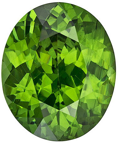 Rare Color in Green Zircon Loose Gem in Oval Cut, Very Pretty in 10.1 x 8.3 mm, 3.82 carats