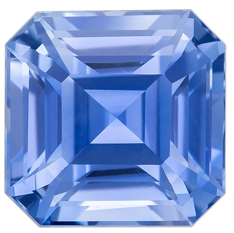 Rare Find in Asscher Cut Loose Blue Sapphire Gemstone, 2.02 carats, 6.78 x 6.69 x 4.73 mm with GIA Certificate, Huge Presence
