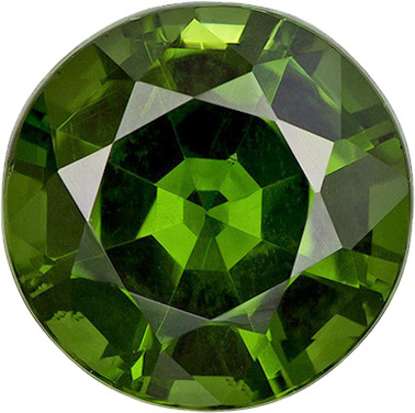 Rare Forest Green Zircon Loose Gem in Round Cut,7.5 mm, 2.12 carats