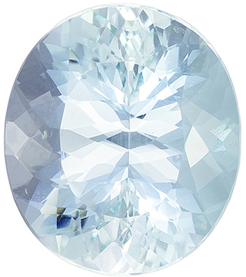Rare Gemstone Blue Aquamarine Oval Cut, 7.35 carats, 14.4 x 12.5 mm