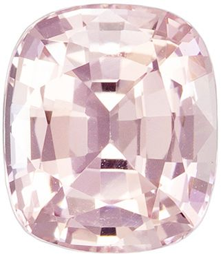 Rare Gemstone Peach Sapphire Cushion GIA Certed No Heat, 1.89 carats, 7.6 x 6.55 x 4.27 mm