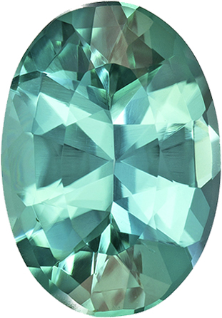 Rare Gorgeous Neon Blue Green Tourmaline Gem in Oval Cut, 10.7 x 7.4 mm, 2.19 carats