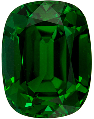 Rare Green Tourmaline 7.51 carats, Cushion shape gemstone, 12.9 x 9.9  mm