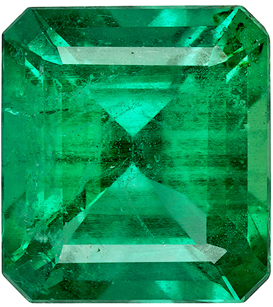 Rare No Oil Gem Xtra Fine Emerald with GIA in Emerald Cut in Rich Green Color in 11.7 x 10.6 x mm, 5.75 carats