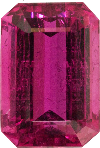 Rare Octagon Cut Rubelite Tourmaline Loose Gem, Gorgeous Red Color in 15.0 x 10.5 mm, 9.86 carats