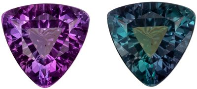 Rare Shape in Color Change Alexandrite Trillion Cut, 0.31 carats, 4.5 mm, Trillion Cut
