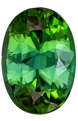 Rare Stone in 4.41 carats Tourmaline Loose Gemstone in Oval Cut, Vivid Green, 12.8 x 8.3 mm