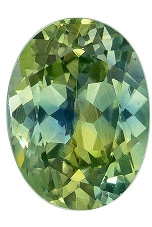 Rare Stone in 7.5 x 5.6 mm Sapphire Loose Genuine Gemstone in Oval Cut, Minty Green, 1.31 carats