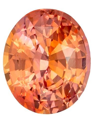 Rare Stone in GIA Certified 1.34 carats Sapphire Loose Gemstone in Oval Cut, Peachy Pink, 7.3 x 6.1 mm