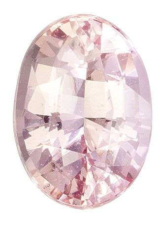Rare Stone in GIA Certified 8.0 x 5.7 mm Sapphire Genuine Gemstone in Oval Cut, Peachy Pink, 1.54 carats
