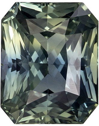 Rare Unheated GIA Certified Blue Green Sapphire Loose Gem in Radiant Cut, Teal Blue Green, 8.1 x 6.6 mm, 2.42 carats - SOLD