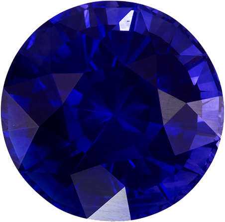 Rare Vibrant GIA Blue Sapphire Natural Ceylon Gemstone in Round Cut, 8.8 mm, 3.8 Carats