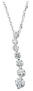 Ravishing Diamond Curved Journey Pendant - Choose Diamond Size and Gold Color - FREE Chain