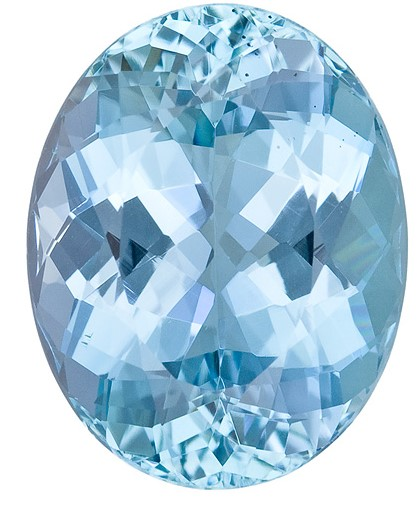 Real Aquamarine Gemstone, Oval Cut, 8.48 carats, 15.4 x 12.1 mm , AfricaGems Certified - A Super Great Buy