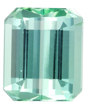 Real Blue Green Tourmaline Gemstone, Emerald Cut, 2.2 carats, 8.1 x 6.9 mm , AfricaGems Certified - A Low Price