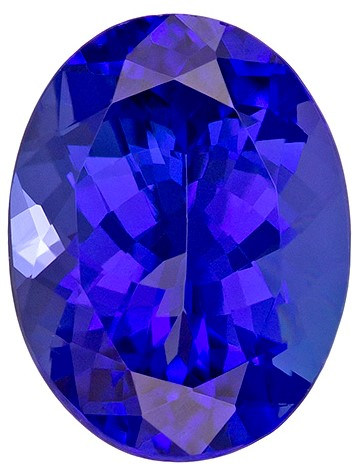 Real Vivid Tanzanite Gemstone, Oval Cut, 2.78 carats, 10.1 x 7.7 mm , AfricaGems Certified - Truly Stunning