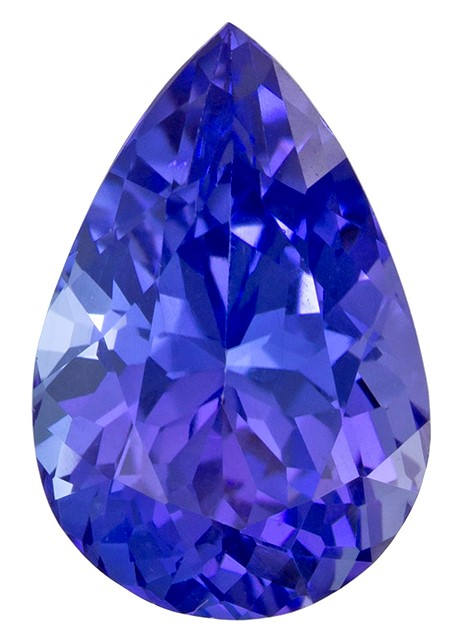 Real Vivid Tanzanite Gemstone, Pear Cut, 1.67 carats, 9.2 x 6.1 mm , AfricaGems Certified - A Deal