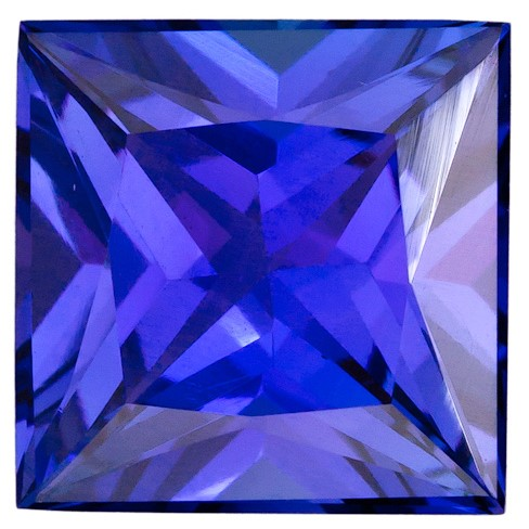 Real Vivid Tanzanite Gemstone, Princess Cut, 3.5 carats, 9 mm , AfricaGems Certified - Truly Stunning