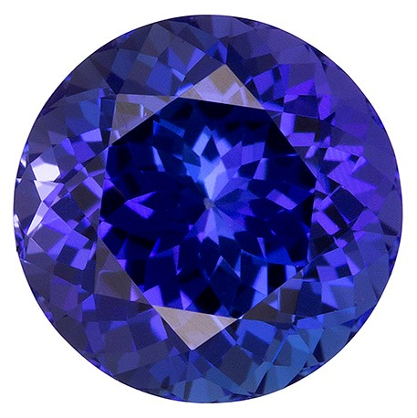 Real Vivid Tanzanite Gemstone, Round Cut, 2.31 carats, 8 mm , AfricaGems Certified - A Unique Beauty