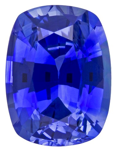 Real Blue Sapphire Gemstone, Cushion Cut, 0.87 carats, 6.2 x 4.7 mm , AfricaGems Certified - A Low Price