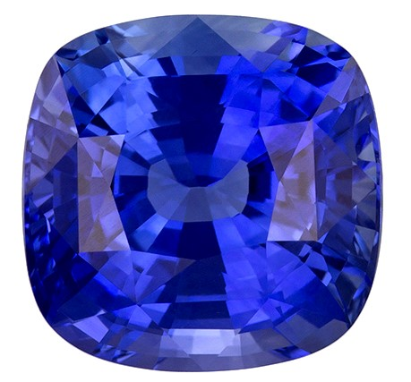 Real Blue Sapphire Gemstone, Cushion Cut, 2.58 carats, 7.6 x 7.5 mm , AfricaGems Certified - A Great Buy