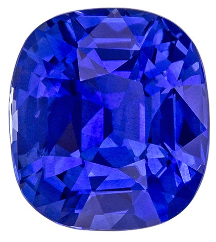 Real Blue Sapphire Gemstone, Cushion Cut, 3.8 carats, 9.04 x 8.14 x 5.85 mm , GIA Certified - A Low Price