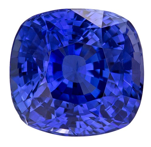 Real Blue Sapphire Gemstone, Cushion Cut, 4.63 carats, 9.16 x 8.74 x 6.61 mm , AfricaGems Certified - A Low Price