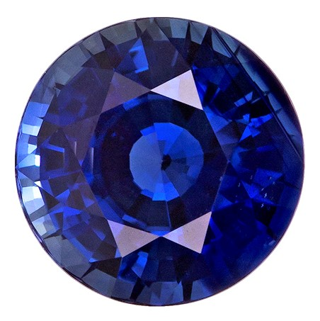 Real Blue Sapphire Gemstone, Round Cut, 1.82 carats, 7 mm , AfricaGems Certified - A Great Colored Gem