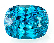 Real Blue Zircon Gemstone, Cushion Cut, 9.29 carats, 12.7 x 10 mm , AfricaGems Certified - A Great Colored Gem